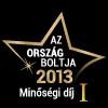 Ország Boltja 2013 Minőségi díj Könyv, cd, dvd kategória I. helyezett
